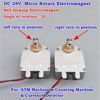 Dc 24v Mini Rotating Type Self-locking Rotary Solenoid Electromagnet 20 Degree
