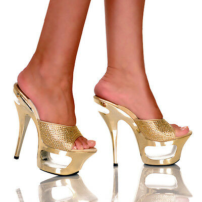 Highest Heel Collection Envy-21 Gold Sandal 6