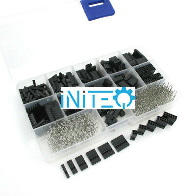 620pcs Dupont Connector Assortment 2.54mm 0.1 Cable Header Kit Male Female Us