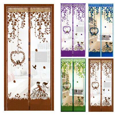 magnetic curtain door net screen insect bug