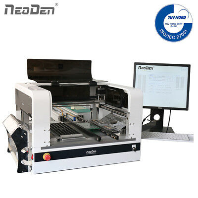 NeoDen Full Vision Pick and Place Machine 4 Heads 40 Electric Feeders Auto Rails