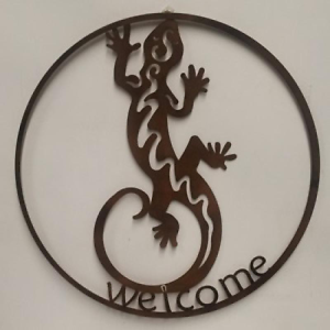 Brand new gecko welcome metal wall art Henley Brook Swan Area Preview