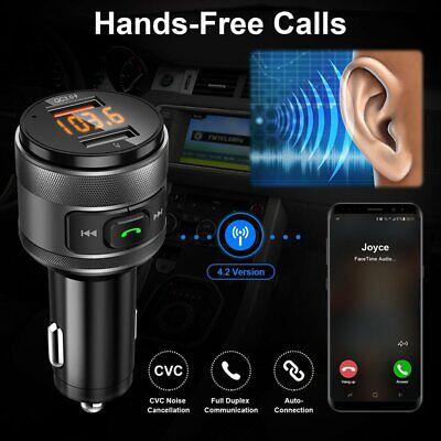 Wireless Bluetooth FM Transmitter Handsfree Car Kit AUX Radio Adapter USB Charge
