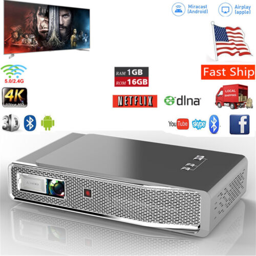 True 8500 Lumens DLP Android HD 1080P 3D Wifi Home Theater P