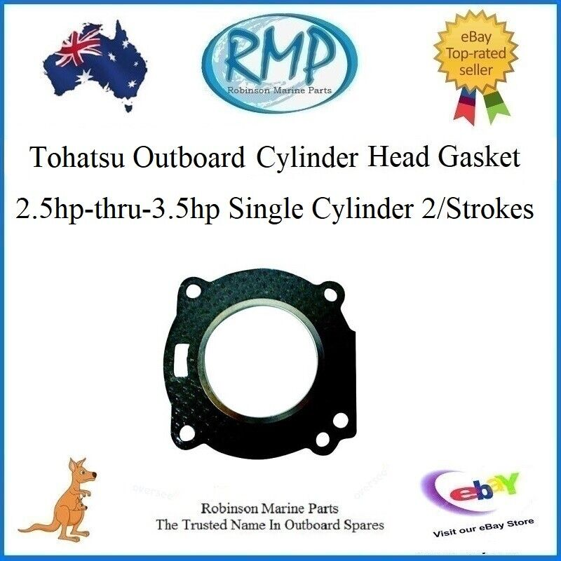 Details about A Brand New Tohatsu Outboard Head Gasket 2 5hp-3 5hp 1cyl  2/Stroke # 27-95299001