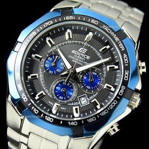 CASIO-EDIFICE-EF540D-1A2-EF-540D-1A2-CHRONOGRAPH-BLACK-x-BLUE-STEEL-BAND