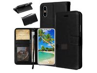 Crazy Horse Wallet PU Leather Stand Case for Apple iPhone X 5.8 inch - Black