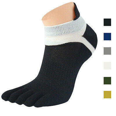 Herren Zehensocken Sport Socken 5 Finger Pure Atmungsaktives Mesh Laufsocken ()