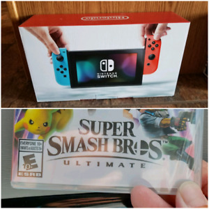 Nintendo Switch and Super Smash Bros Ultimate