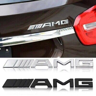 AMG Emblem Logo in Chrom passend für Mercedes B C CLA CLS G GLA E SLK S19x2,5cm