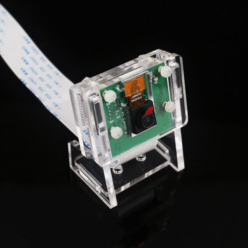 5MP Camera Module Webcam Video 1080p+Transparent Holder For Raspberry Pi 4B/3B