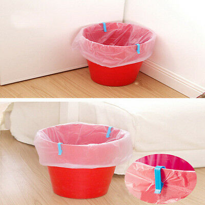 8X Universal Trash Bag Fixed Clip Waste Basket Rubbish Bin Garbage Can ClampSN for sale  USA