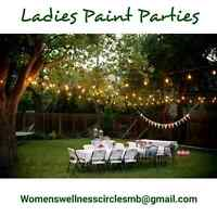 Now offering Home Parties -  Ladies Paint Nights