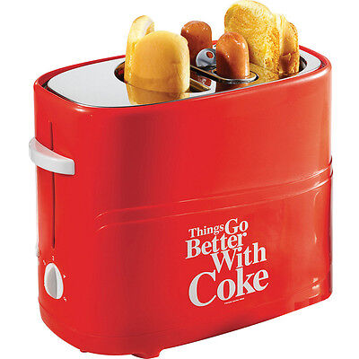 Coca Cola Pop-up Hot Dog Toaster Dog Bun Maker Retro Vintage Electric Cooker