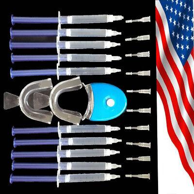 Dental Teeth Whitening Whitener LED Bleaching System Oral Gel Kit Super Bright