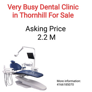 Very busy dental clinic for sale