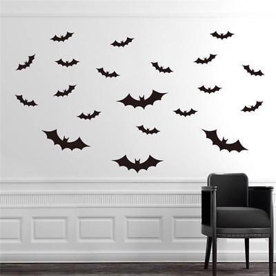 20Pcs/Set Halloween Flying Bats Wall Stickers Room Decoration Home Decor Mural
