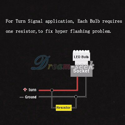 Details about 2PCS 9006 HB4 LED Load Resistor 50W 6ohm Decoder for LED  bulbs Error Code