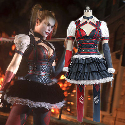 Batman:Arkham Knight City Harley Quinn Halloween Dress Cosplay Costume Halloween