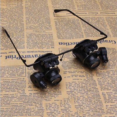 Reemplazable 2LED magnifier con Linsen Joyero*Relojero 20X Gafas De Aumento Lupa