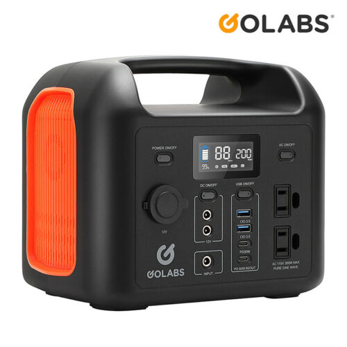 GOLABS Power Station Solar Generator 93437mAh 299Wh Emergency Charge Portable