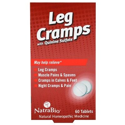 (NatraBio, Leg Cramps, with Quinine Sulfate, 60 Tablets)