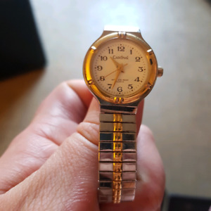 Cardinal gold and white expandable band womens watch