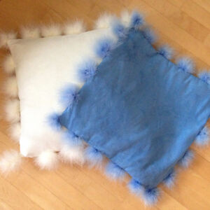 Beautiful faux suede and feather pillows Prince George British Columbia image 1