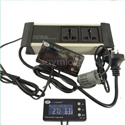 Digital Temperature Humidity Controller Thermostat Aquarium Fish Tank Reptile