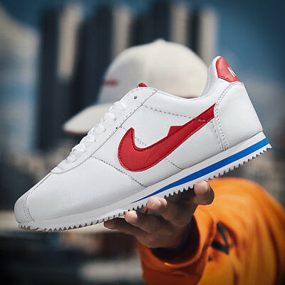 Men Cortez Classic Shoes Retro Outdoor Leather Students Jogging Athletic - Jogging Sneaker