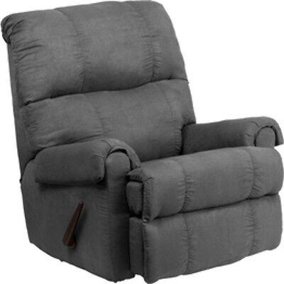 Flash Furniture Contemporary Flatsuede Graphite Microfiber Rocker Recliner NEW