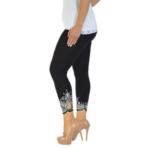 Damen Hose Treggings Leggings Stoffhose Freitzeithose Röhrenhose Leggins Unifarb