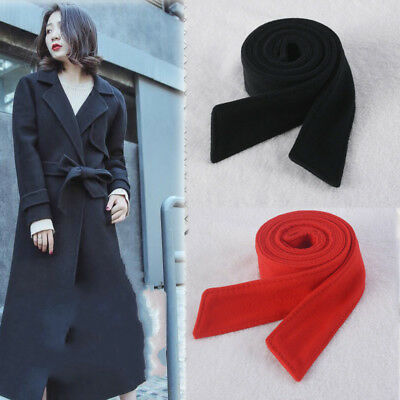 Women Faux Wool Belt Woolen Sash Tie Trench Coat Overcoat Jacket Accessories Wool Belt Tie Coat Jacket