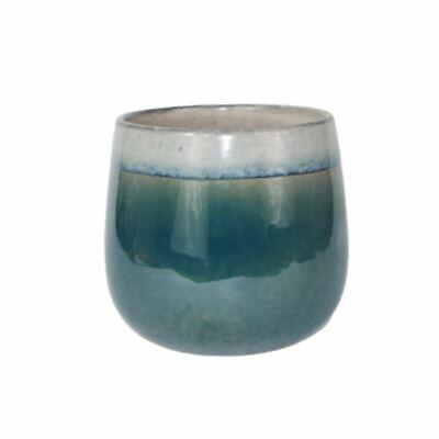 Ivyline Classic  Laos Marine Glazed Indoor Planter Plant Pot Pottery 13cm