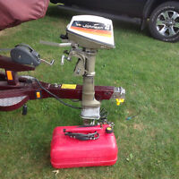 Johnson 4 horse outboard boat motor