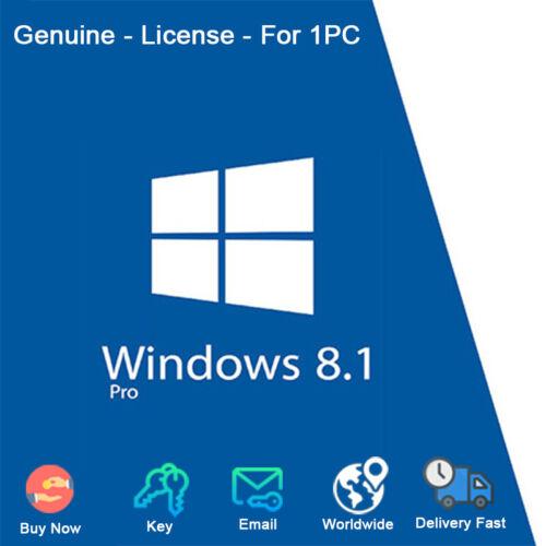 Windows 8.1 Professional 32/64Bit For 1 PC License Genuine