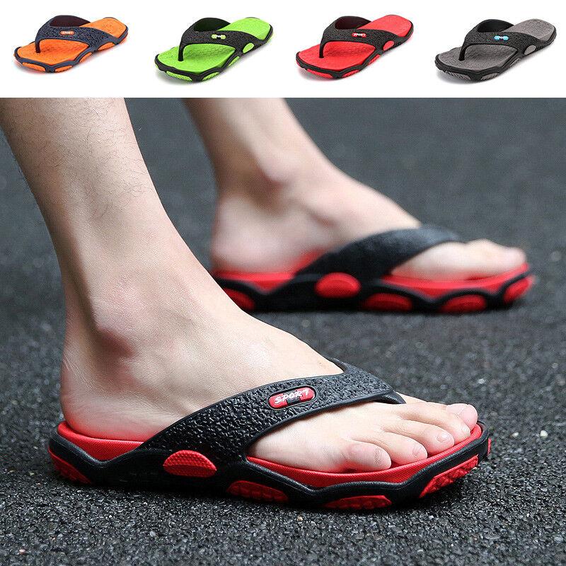 Summer Men's Flip Flops Sandals Beach Casual Flip-flops Shoes Flats US Szie 9-11 1