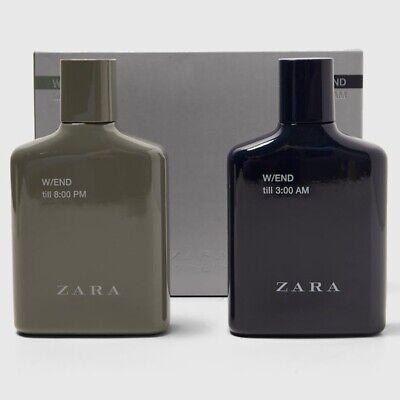 ZARA W/END TILL 8:00 PM + 3:00 AM SET * 2 x 3.4oz (100ml) EDT Spray NEW in BOX