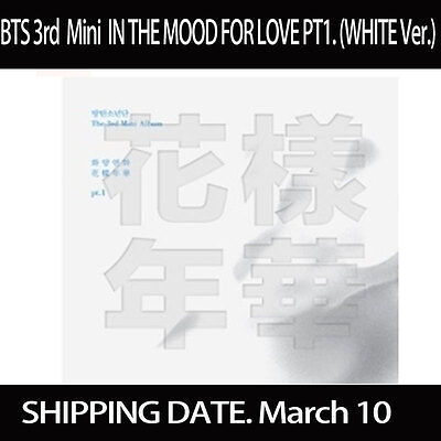 BTS 防弾少年団 3rd Mini Album IN THE MOOD FOR LOVE pt.1 - Vol.3 CD (WHITE Ver.)