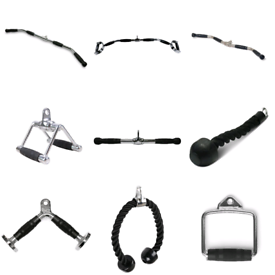 Cable attachments- stirrup, v-bar, lat pulldown, row, tricep - Weights Gym