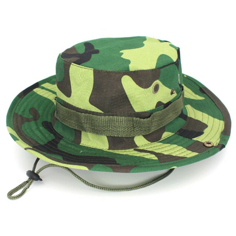 Men Camouflage Brim Cap Summer Holiday Travel Adjustable Hiking Cap Casual Hats Clothing, Shoes & Accessories