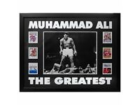 Muhammed Ali Hand Signed Framed Display - 100% genuine - boxing