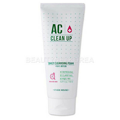[ETUDE HOUSE] AC Clean Up Daily Cleansing Foam 150ml / Natural tea tree