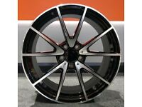 """19"""" AMC V Style Alloy Wheel and Tyre Package 5X112 C-Class"""