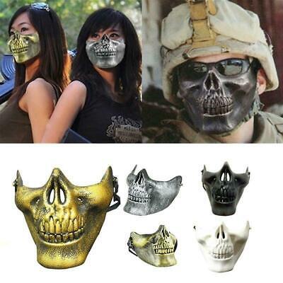 Novedad Media Máscara Calavera Esqueleto Halloween Pinza Cara Protección Disfraz - Esqueletos Halloween
