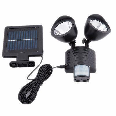 Solar LED Security Motion PIR Sensor Light Dual Outdoor Garden Floodlight Spot