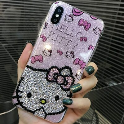 Hello Kitty Luxury Cover For iPhone XS Max XR X 7 8 Plus Diamond Glitter Case - Hello Kitty Case Cover