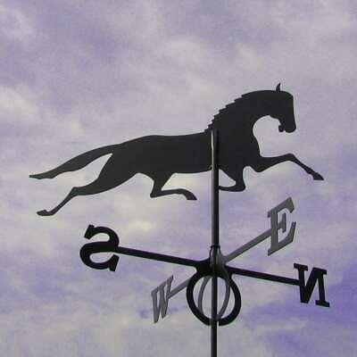 Large Black Steel Mustang Weathervane