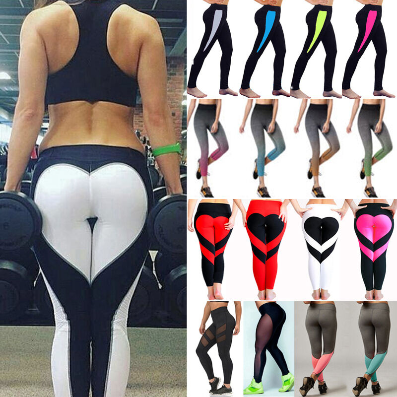 Leggings - Women Sports YOGA Running Gym Fitness Leggings Pants Jumpsuit Athletic Wear N079