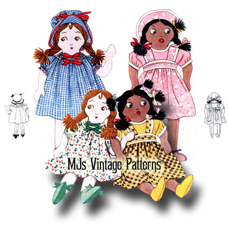 "RARE!!! Vintage Ethnic Girl Dolls Pattern ~ 13"" tall"